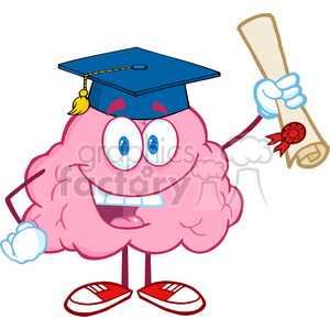 300x300 Royalty Free 5845 Royalty Free Clip Art Happy Brain Character