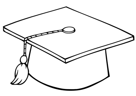 480x339 Graduate Cap coloring page Free Printable Coloring Pages