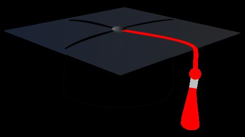 500x279 Graduation Cap PNG Transparent Image