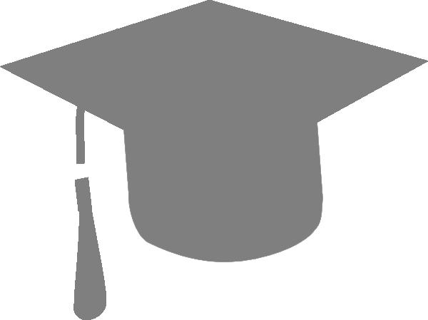 600x449 Grey Graduation Hat Clip Art
