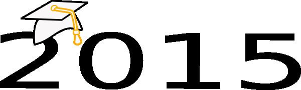 600x180 Graduation Cap 2015 Logo Clip Art