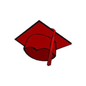 300x300 Graduation Cap Clip Art
