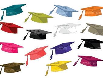 340x270 Graduation Clip Art Graduation Cap Clipart Digital Clip Art