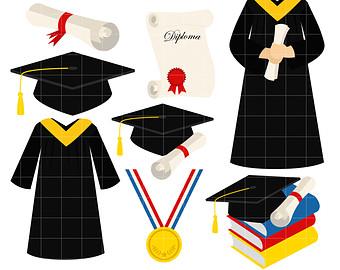 340x270 Graduation Gown Clipart