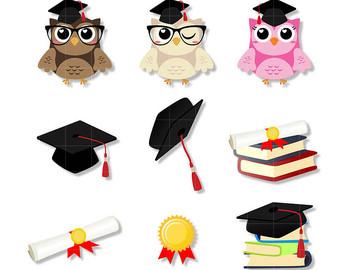 340x270 Graduation Owls Cute Clipart, Graduation Clip Art, Graduation