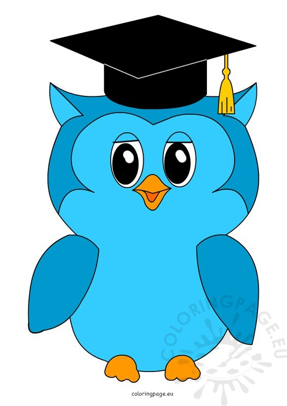 581x822 Owl Graduation Clipart Coloring Page