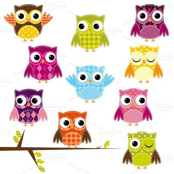 580x580 Owl Clipart Vector