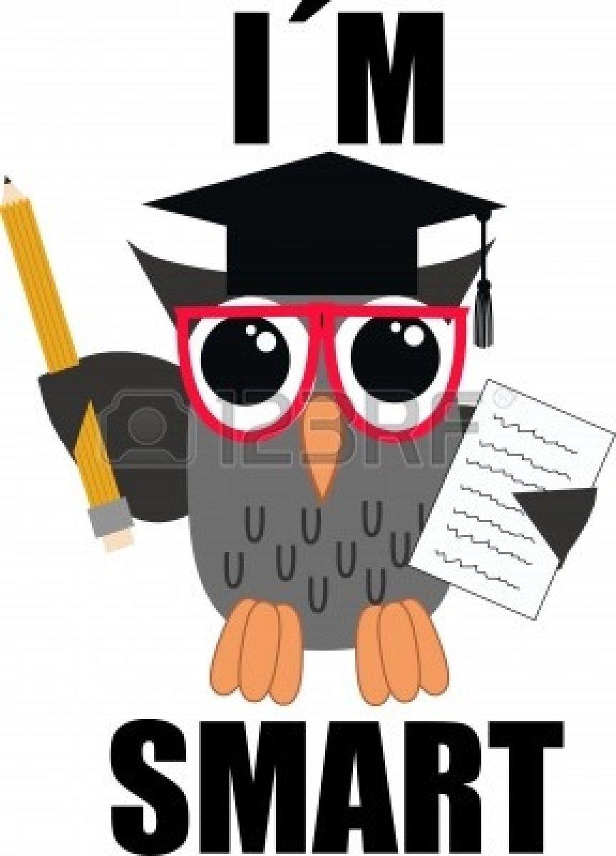 864x1200 Smart Owl Clipart