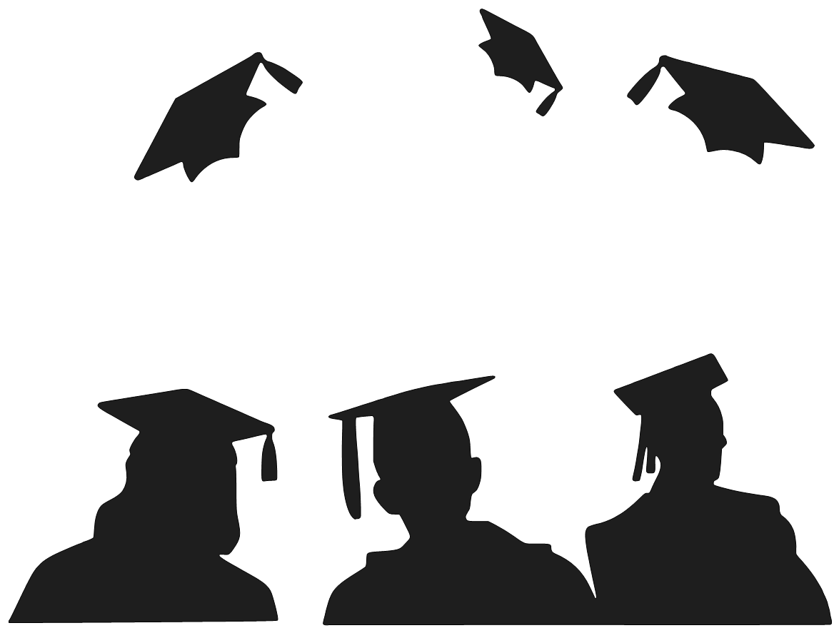 1175x887 Graduation Clip Art Black And White Free