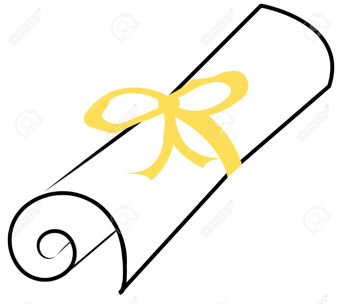 Graduation Scroll Clipart