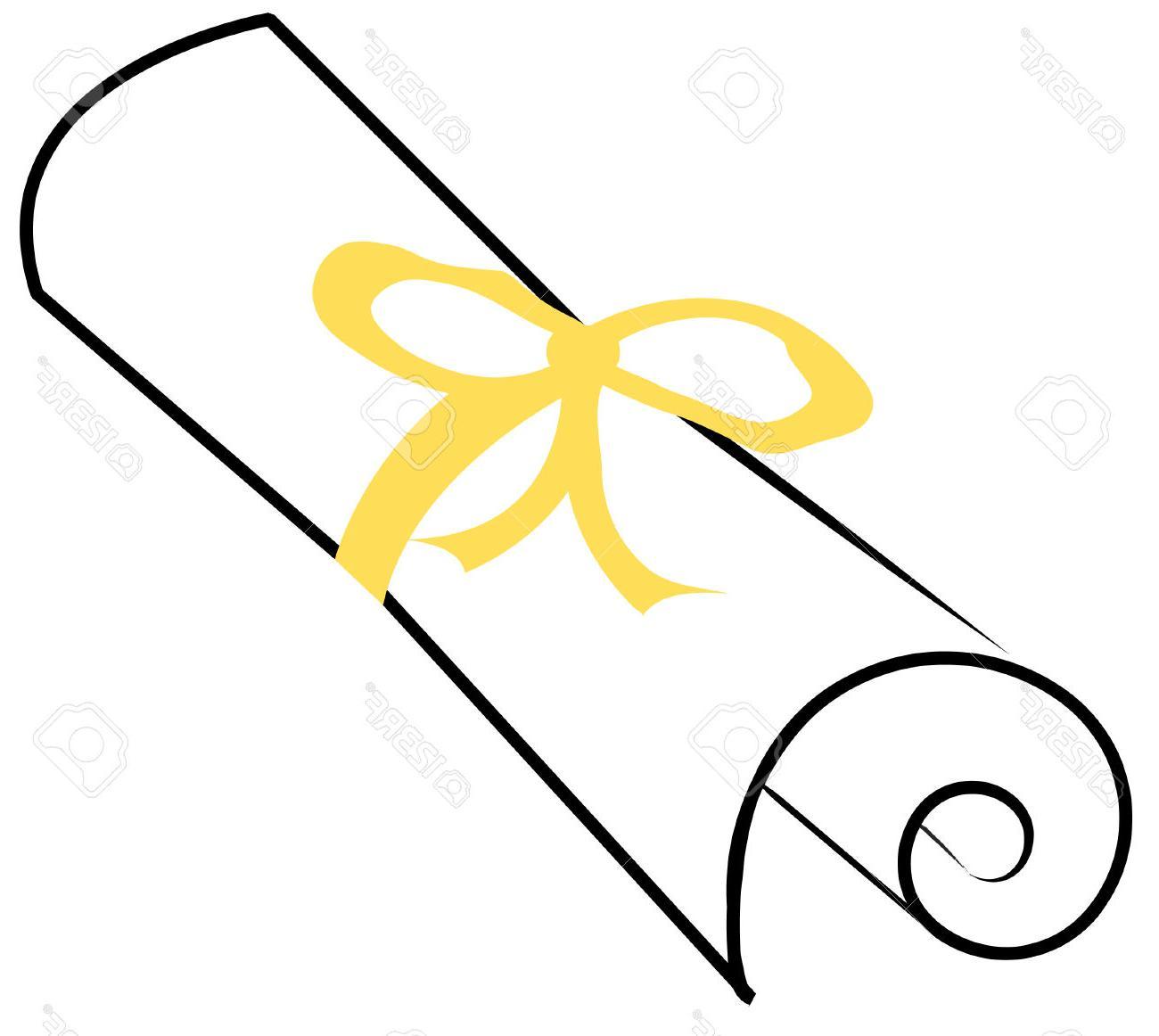 1300x1162 Hd Paper Clipart Graduation Scroll Clip Drawing
