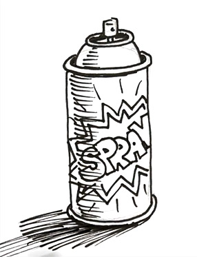 Graffiti Characters Spray Can Clipart | Free download on ...