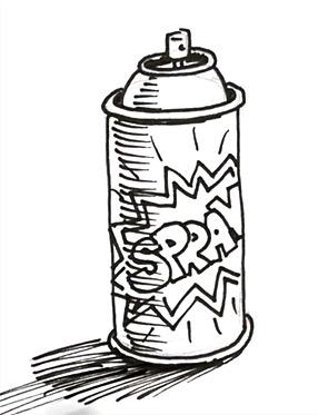 286x373 Drawn Graffiti Spray Can