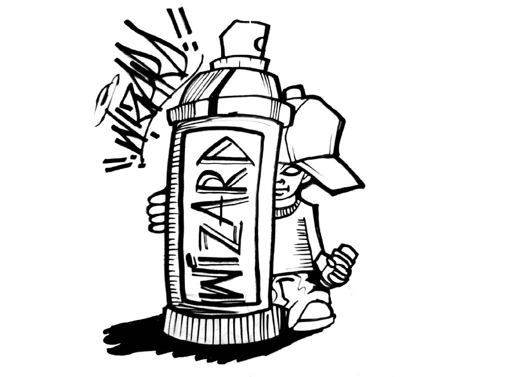 1024x755 Graffiti Spray Can Drawing