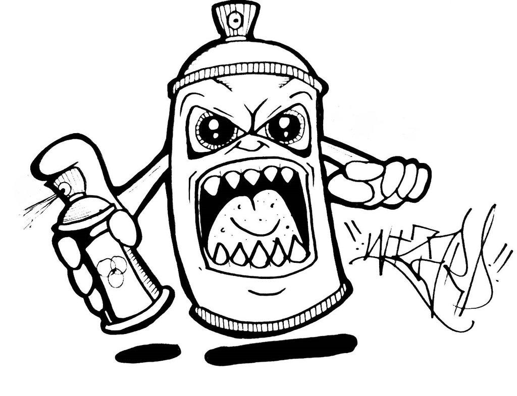 1024x785 cartoon graffiti spray can