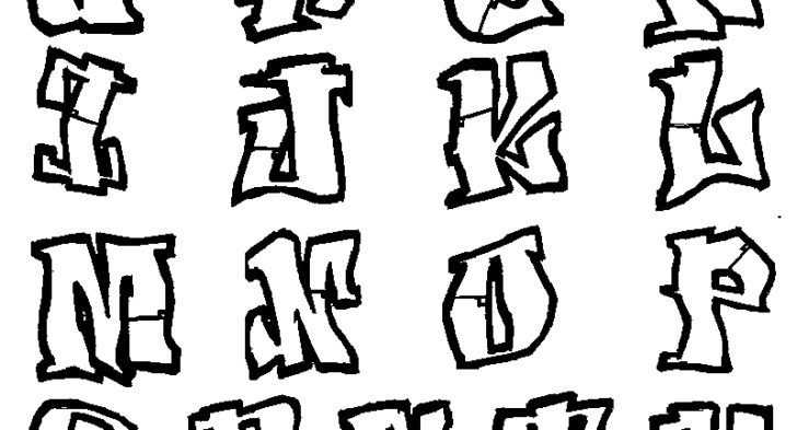 728x393 Graffiti Alphabet Coloring Pages Omg! Another Graffiti Coloring