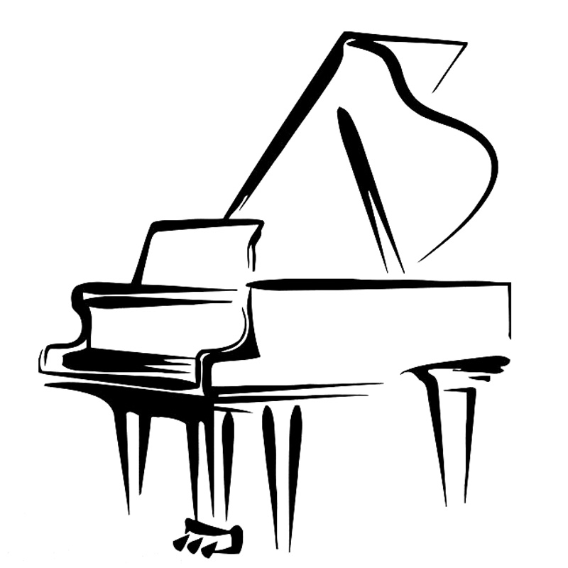 Grand Piano Cartoon