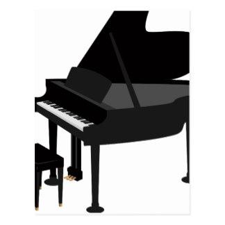 324x324 Cartoon Piano Postcards Zazzle