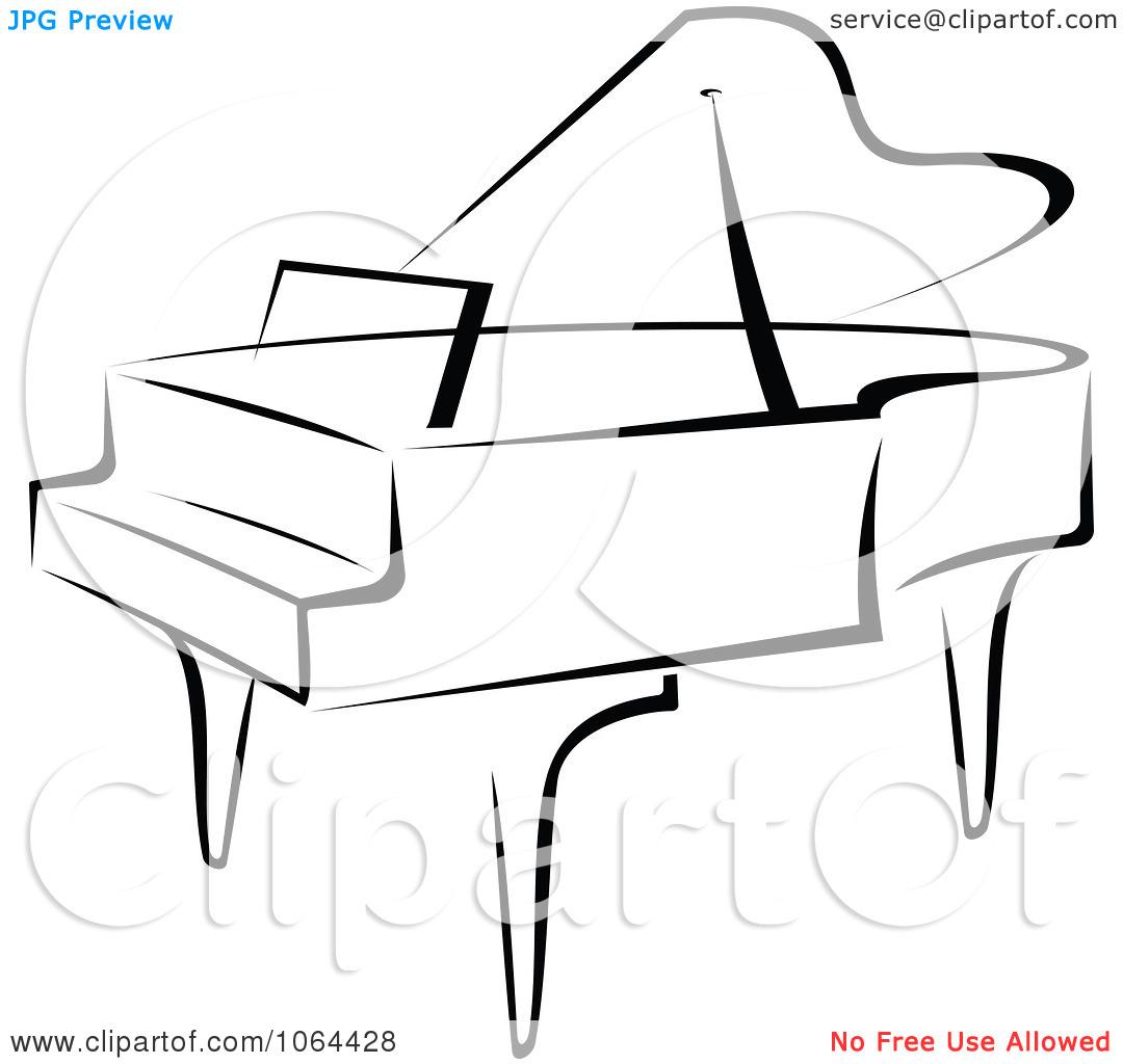 1080x1024 Grand Piano Clipart