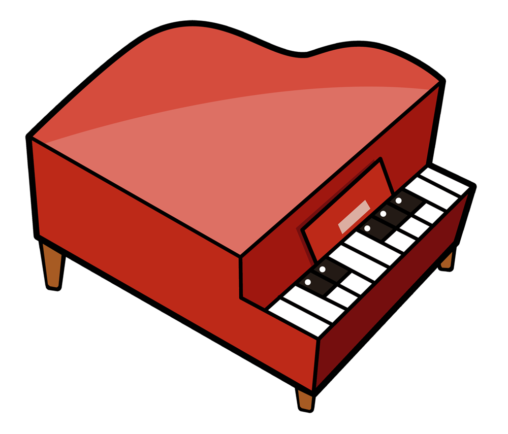 1000x855 Piano Cartoon