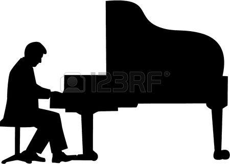 450x321 Piano Clipart Silhouette