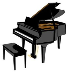 236x250 Woman Grand Piano Notes Cartoon Piano Clip Art Free Vector