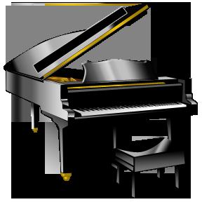 288x288 Woman Grand Piano Notes Cartoon Piano Clip Art Free Vector 3