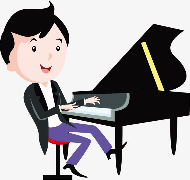 650x619 Cartoon Boy Playing The Piano, Piano, Play Piano, Cartoon Png