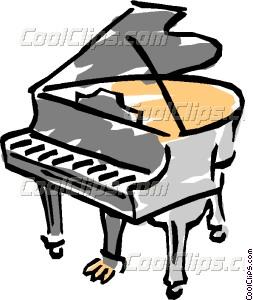 253x300 Grand Piano Vector Clip Art
