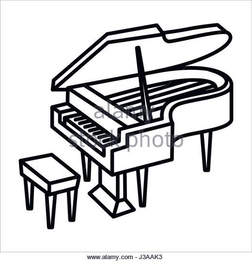 520x540 Black Grand Piano Icon Stock Photos Amp Black Grand Piano Icon Stock