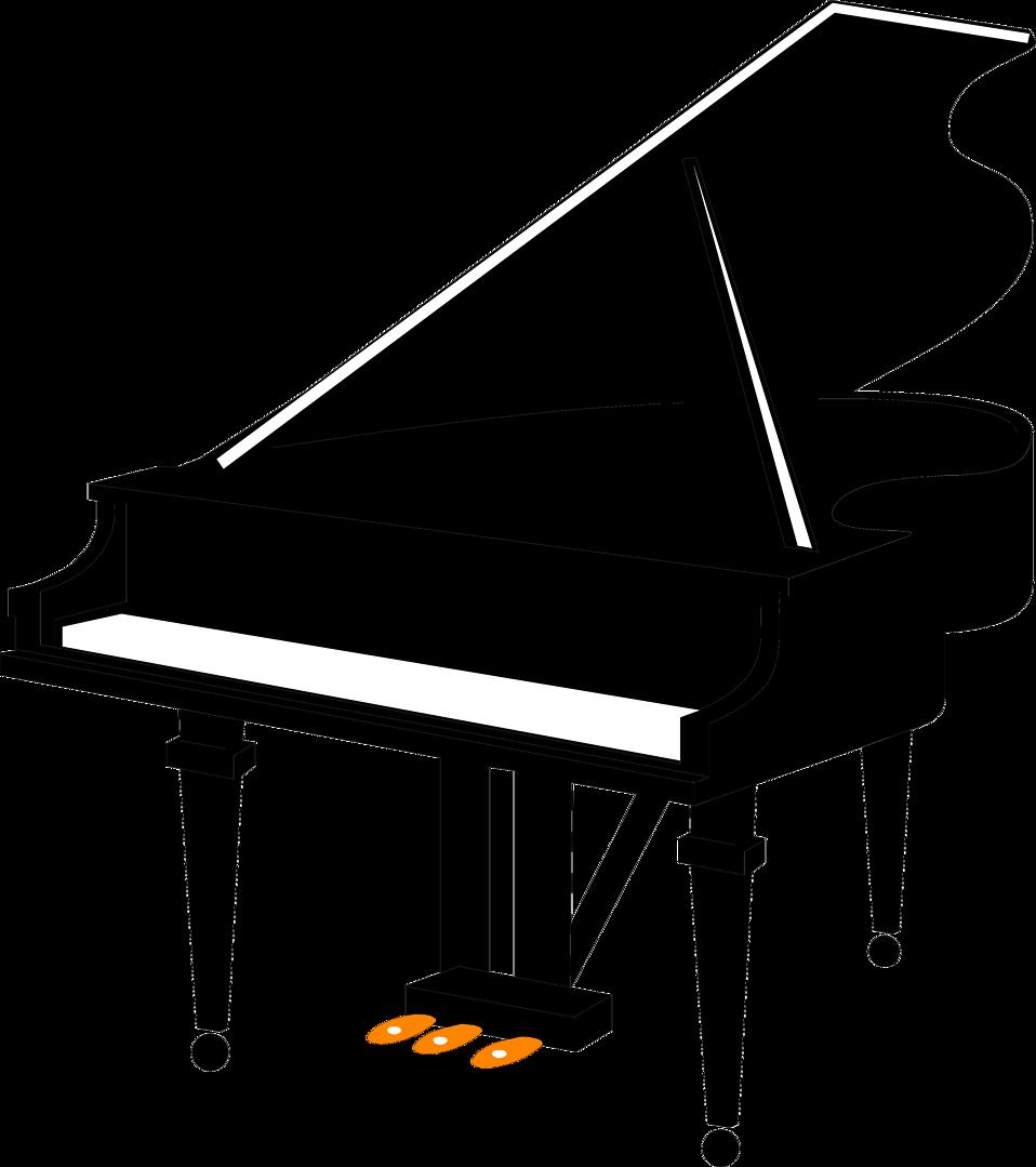 958x1079 Piano Free Stock Photo Illustration Of A Grand Piano