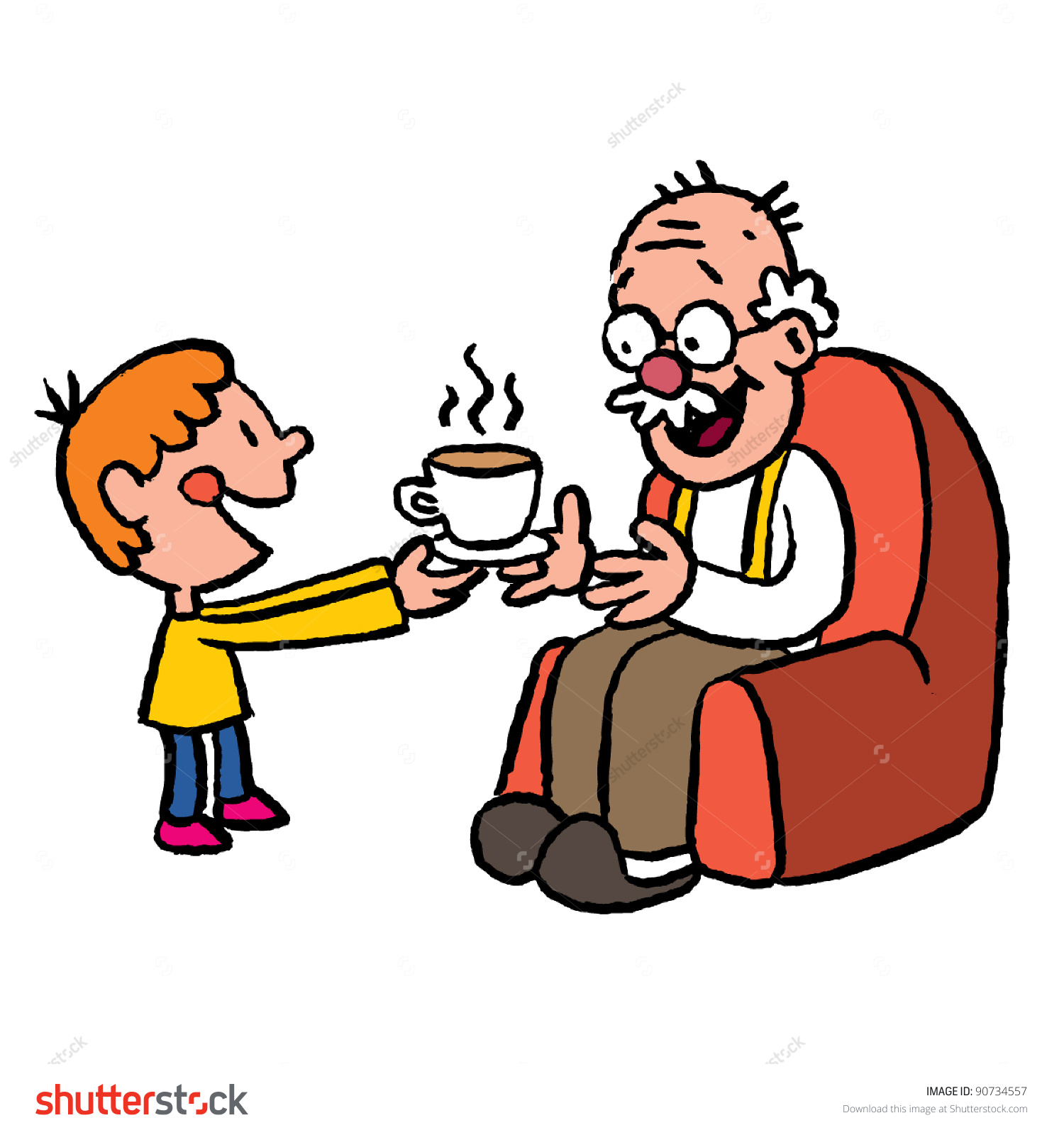 1500x1600 Fishing Clipart Grandfather