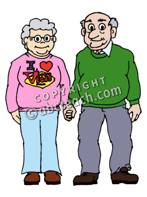 300x400 Grandfather Grandmother Clipart