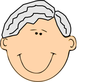 300x288 Grandfather Smiling Clip Art