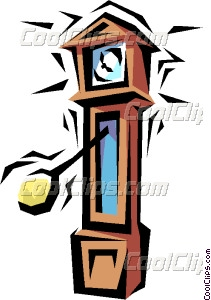 211x300 Grandfather Clock Vector Clip Art