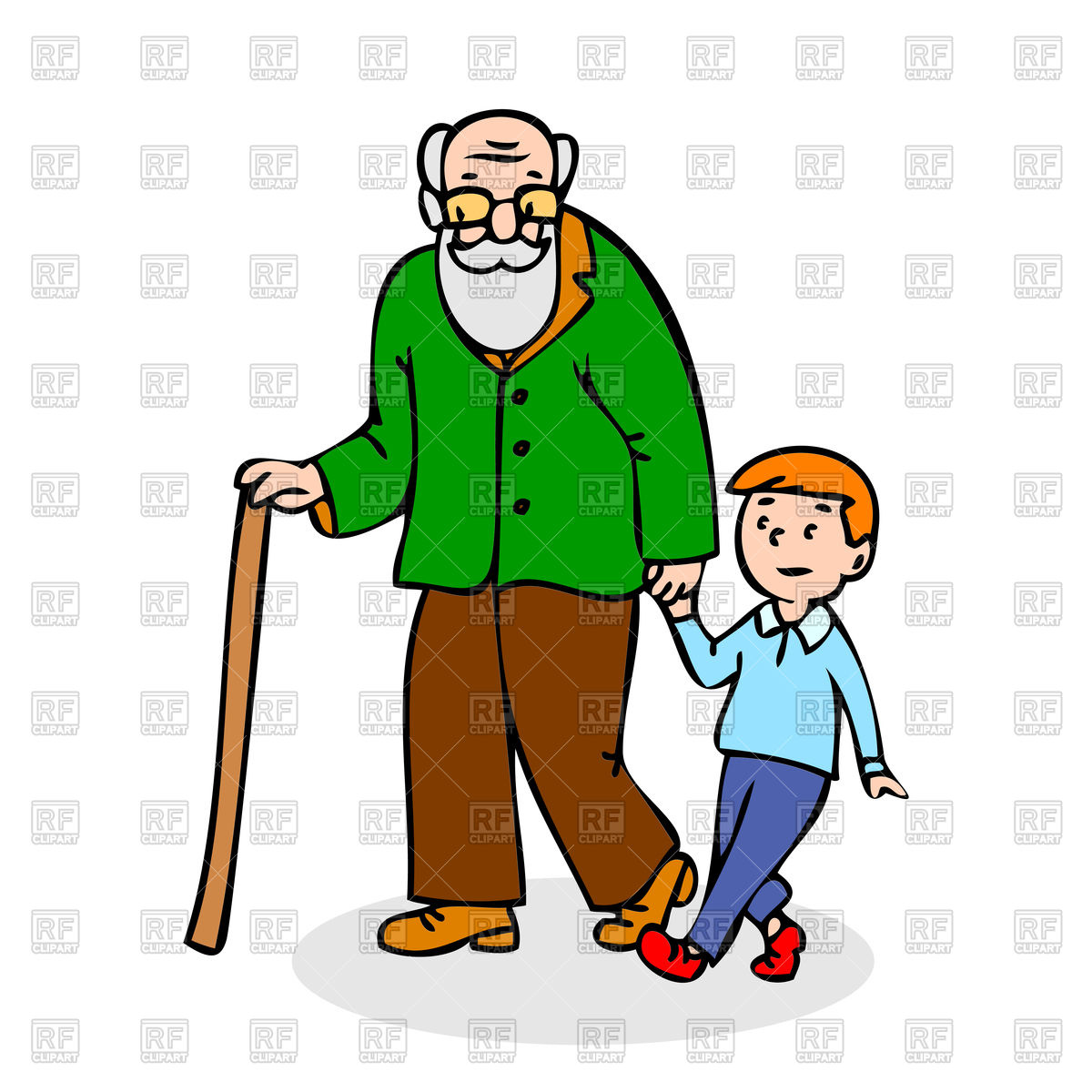 1200x1200 Grandfather With Grandson Royalty Free Vector Clip Art Image