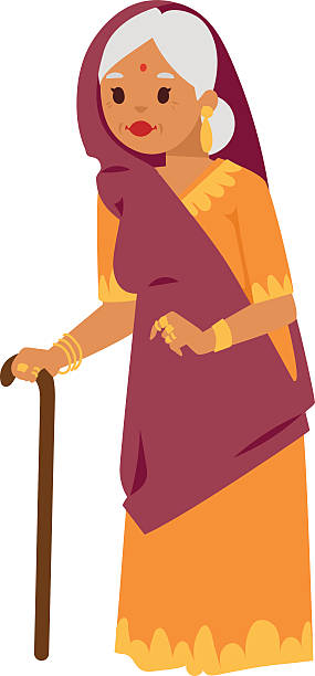285x612 Clipart Of Indian Grandmother Amp Clip Art Of Indian Grandmother