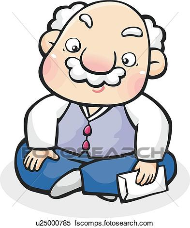 393x470 Clipart Of Grandfather, New Year, Holidays, Holiday, New Year'S