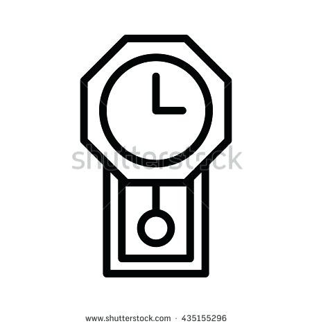 450x470 Grandfather Clock Clip Art Pendulum Clipart Antique Wall Stock
