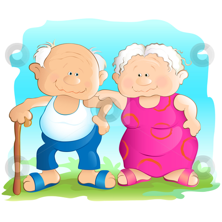 450x450 Grandmother And Grandfather Clipart