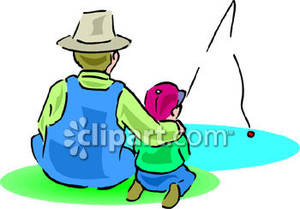 300x209 And Son Fishing Clip Art
