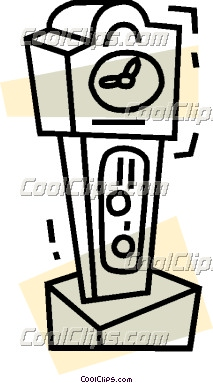 213x383 Clip Art Grandfather Clock