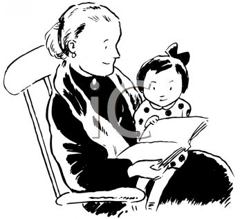 Grandma Clipart Black And White