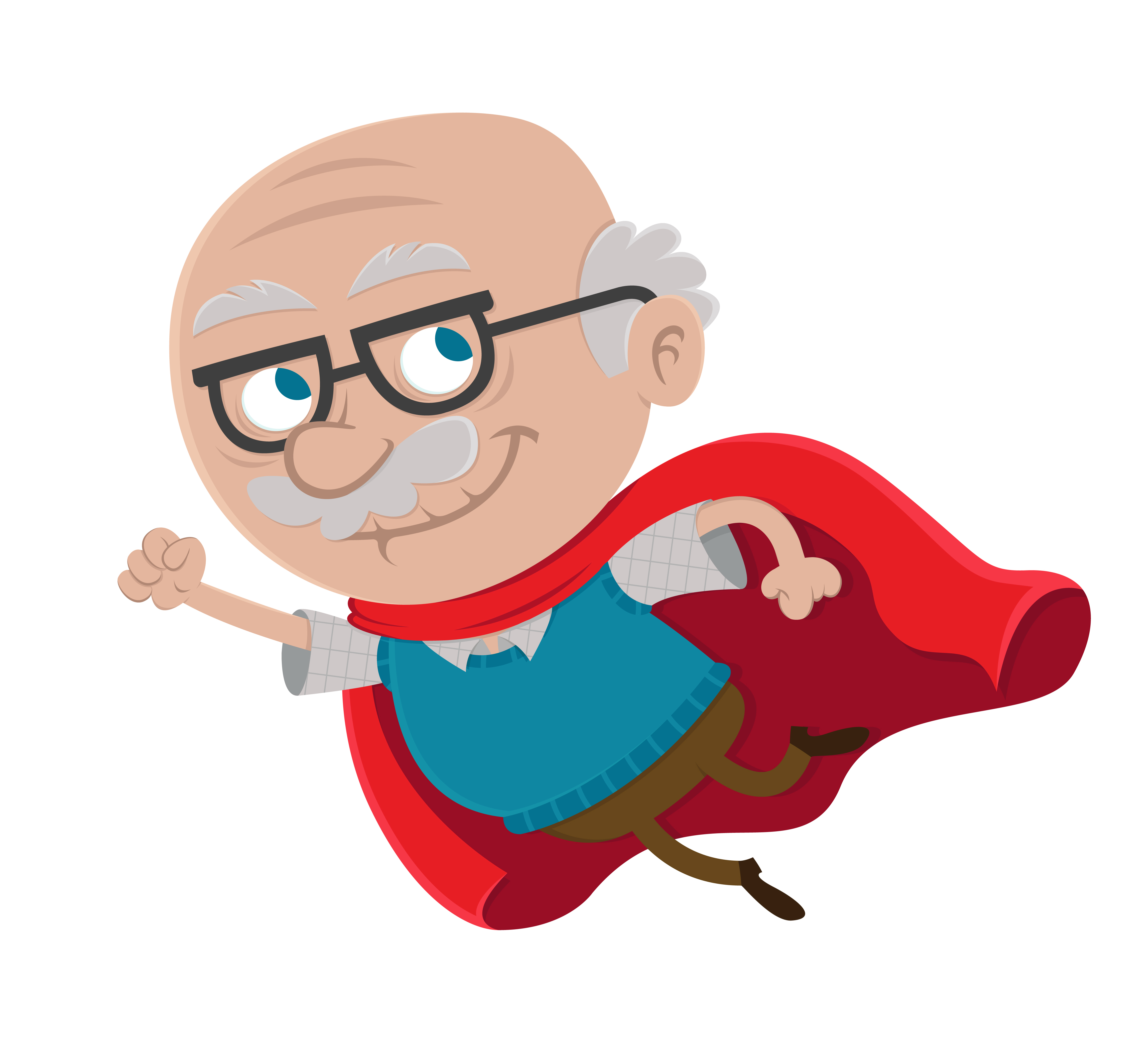 4583x4167 Cartoon Clipart Grandpa