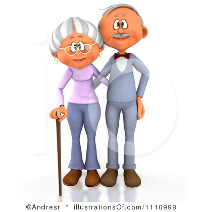 400x420 Clip Art Grandparents Clipart