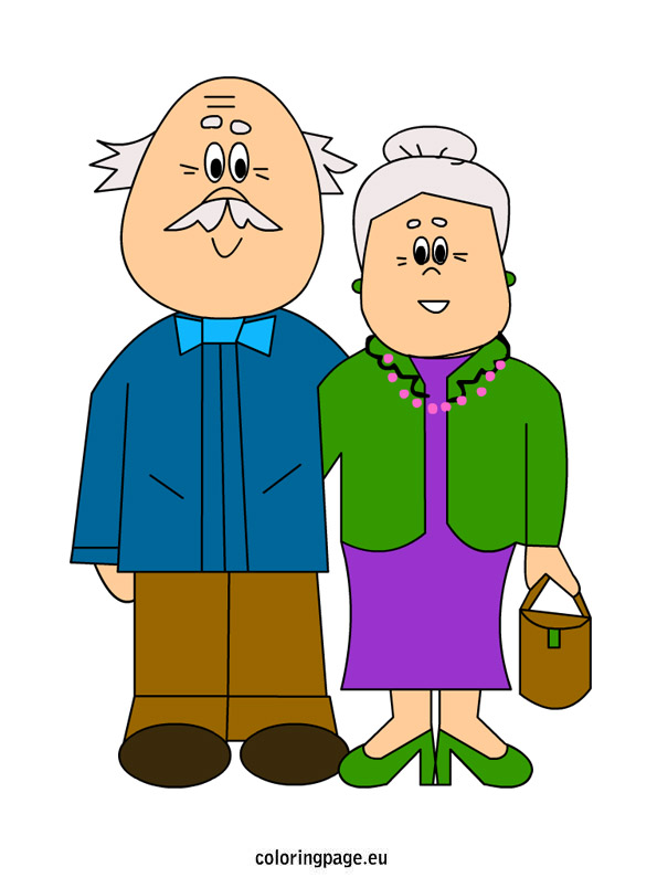 595x804 Free Clipart Of Grandparents