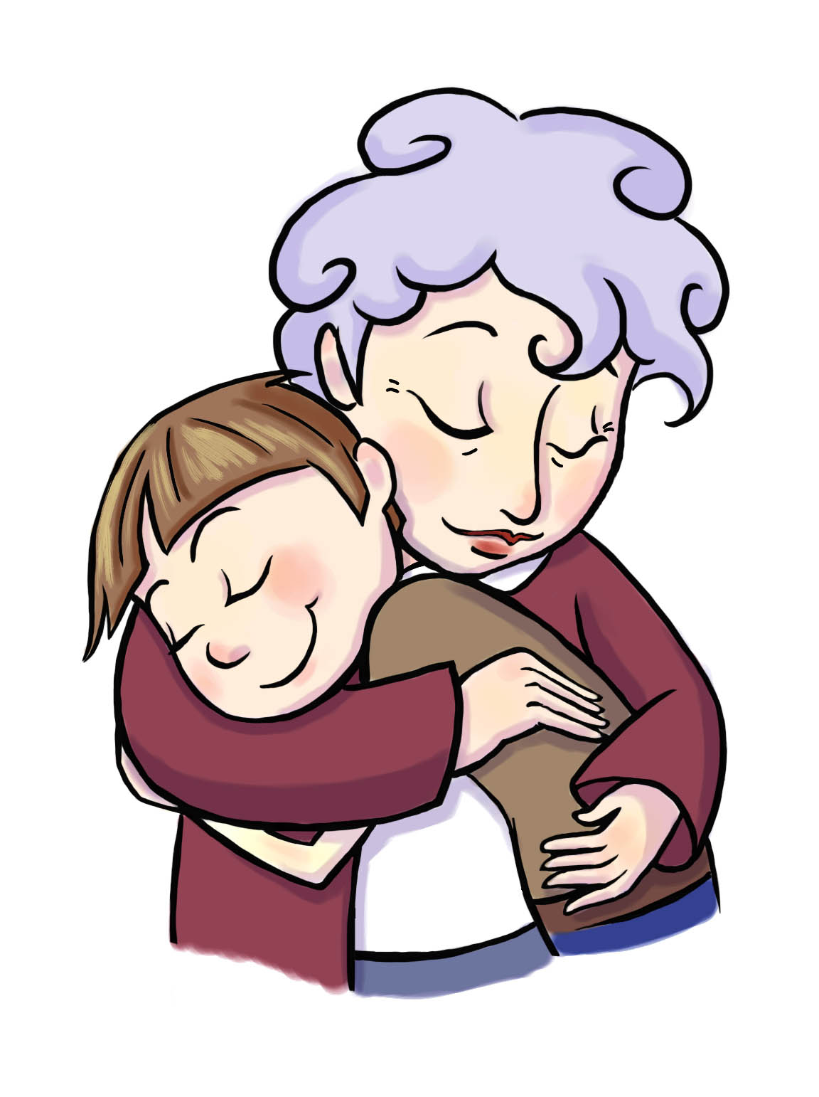 1152x1542 Sleeping Clipart Grandmother