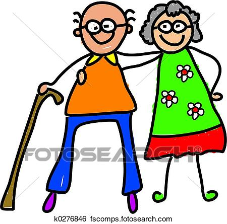 450x445 Stock Illustration Of My Grandparents K0276846