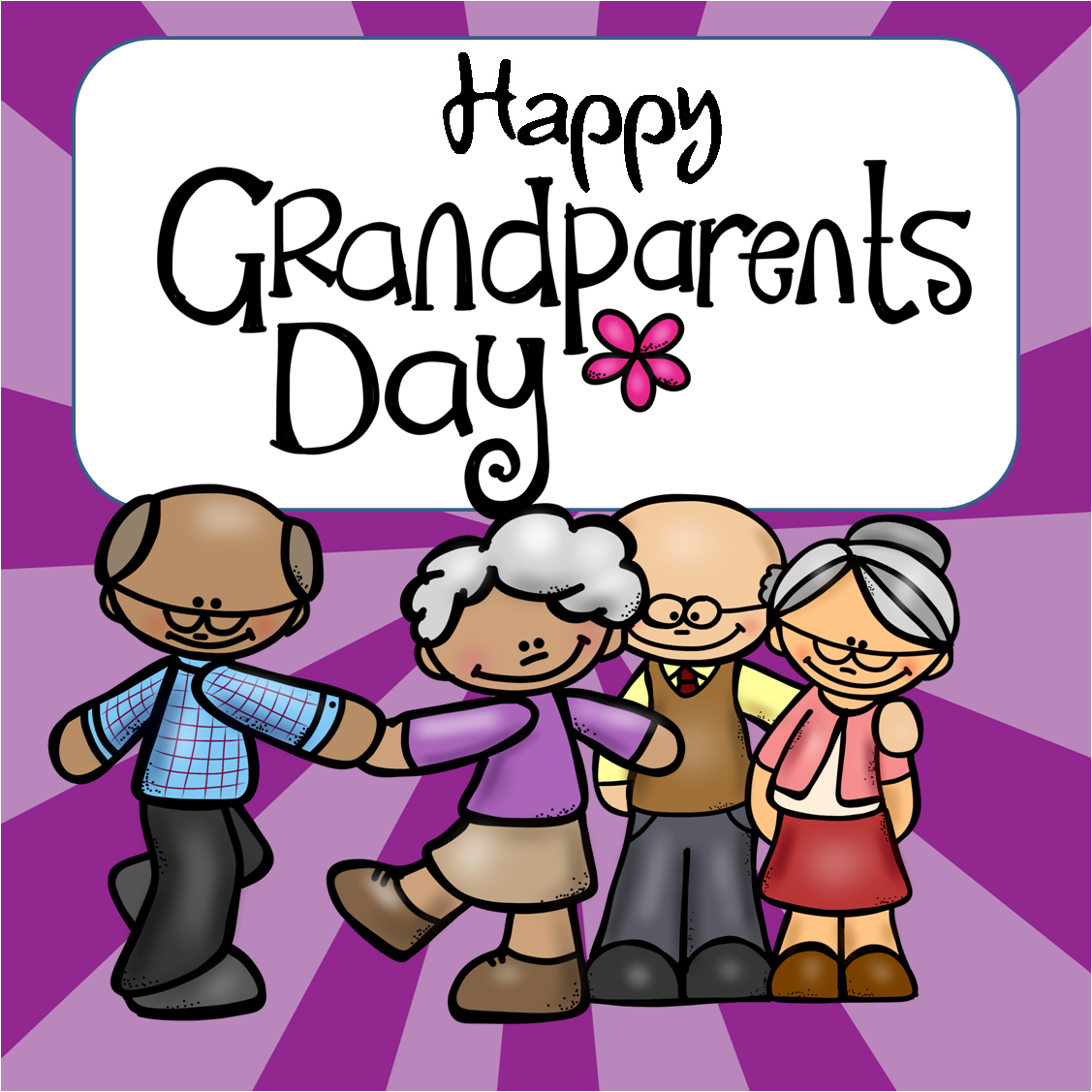 1127x1127 Free Grandparents Day Clipart