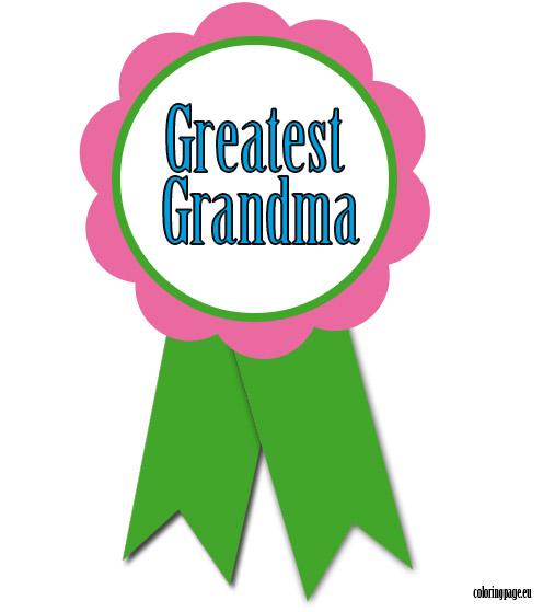 496x559 Greatest Grandma Rosette Coloring Page